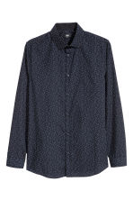 Shirt Slim fit - Dark blue/Patterned - Men | H&M IE 2