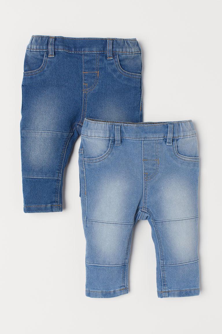2-pack denim leggings - Denim blue - Kids   H&M GB