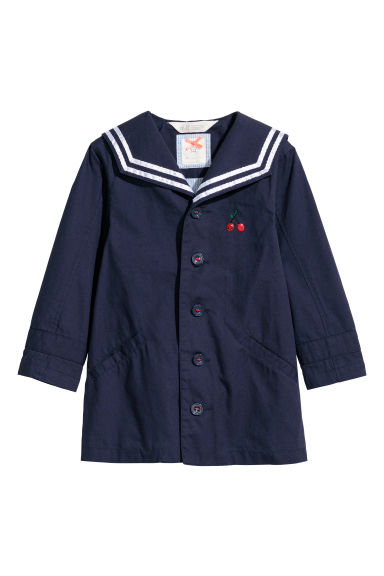 Sailor jacket - Dark blue/Cherries - Kids | H&M CN