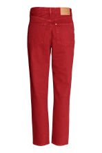 Vintage High Cropped Jeans - Rood - DAMES | H&M BE 3