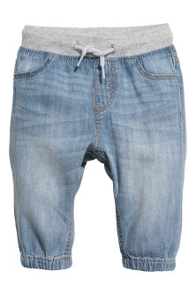 Denim pull-on broek