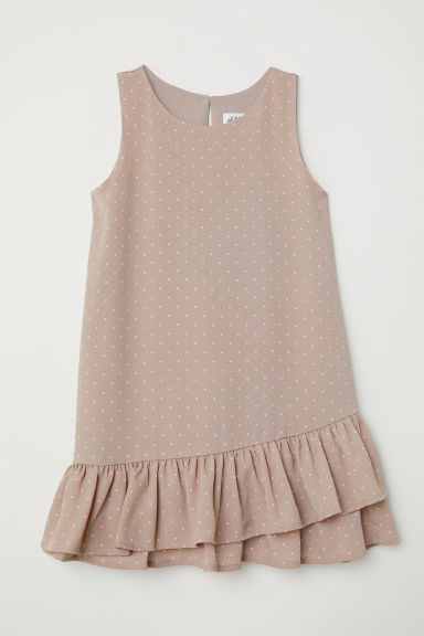 Flounced dress - Mole/Pink spotted - Kids | H&M CN