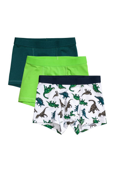 3-pack boxer shorts - Green/Dinosaurs - Kids | H&M CN