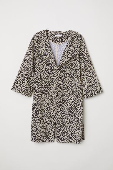 Patterned coat - Light beige/Leopard print -  | H&M GB