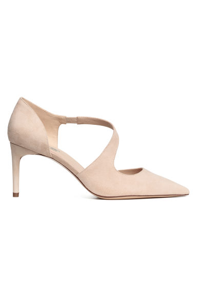 Suede court shoes - Beige - Ladies | H&M CN