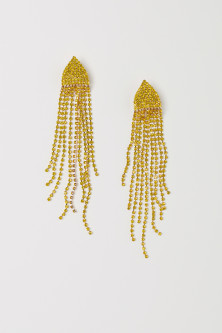 Long sparkly earrings