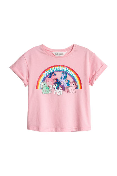 Printed T-shirt - Pink/My Little Pony -  | H&M CN