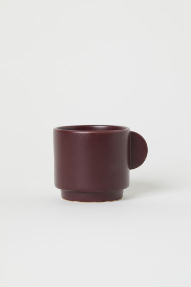 Stoneware cup - Burgundy - Home All | H&M GB