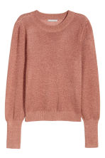 Fine-knit jumper - Rust/Glittery - Ladies | H&M 2