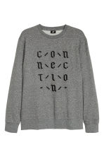 Sweatshirt with embroidery - Dark grey marl - Men | H&M 2