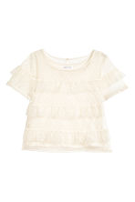 Top in tulle con volant - Bianco naturale - BAMBINO | H&M IT 2
