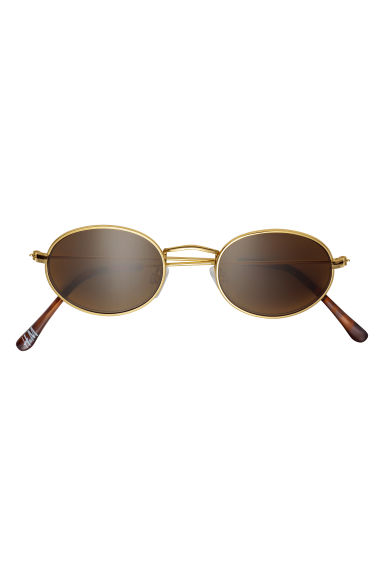 Oval sunglasses - Gold-coloured - Men | H&M CN