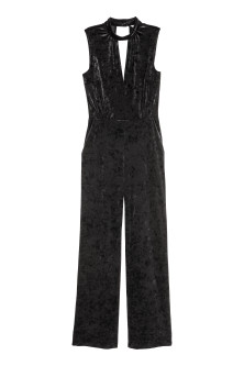 Jumpsuit aus Velours