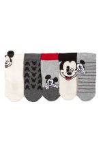 5-pack socks - Grey marl/Mickey Mouse - Kids | H&M CN 1