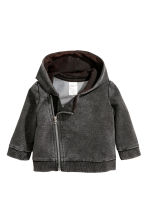 Hooded jacket - Dark grey - Kids | H&M CN 1
