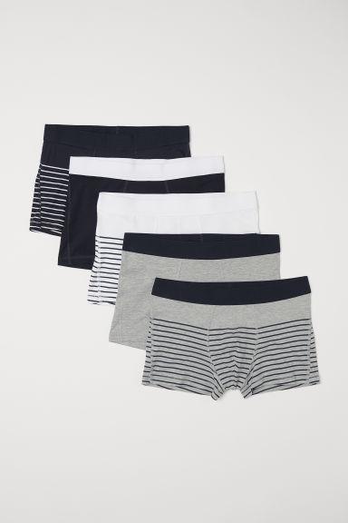 5-pack short trunks - Grey/Multicoloured - Men   H&M GB