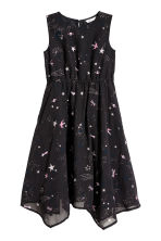 Sleeveless dress - Dark blue/Stars - Kids | H&M CN 2