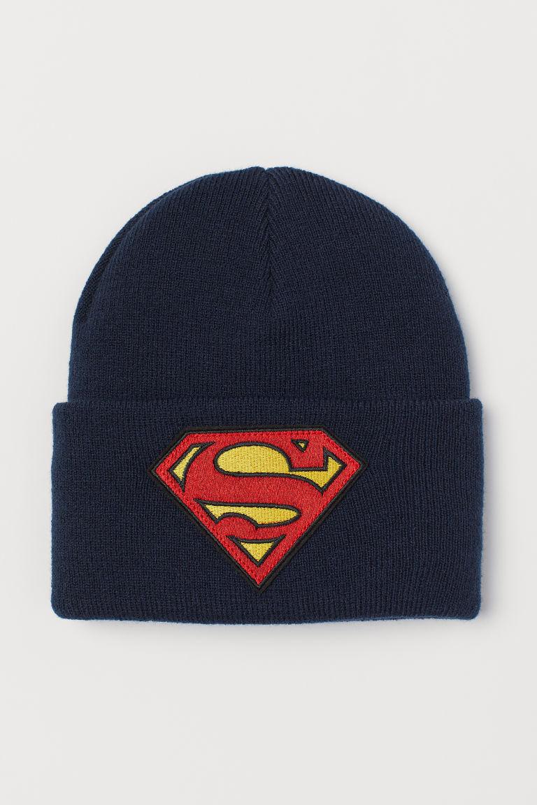 Knitted hat - Dark Blue/Superman - Kids   H&M GB