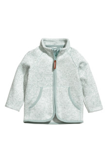 Gebreid fleece jack