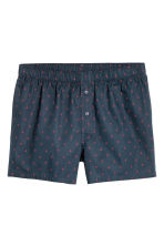 3-pack woven boxer shorts - Dark blue/Checked - Men | H&M IE 3