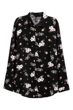 Shirt - Black/Pink floral - Ladies | H&M 2
