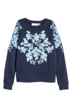 Sweatshirt with appliqués - Dark blue - Ladies | H&M 2