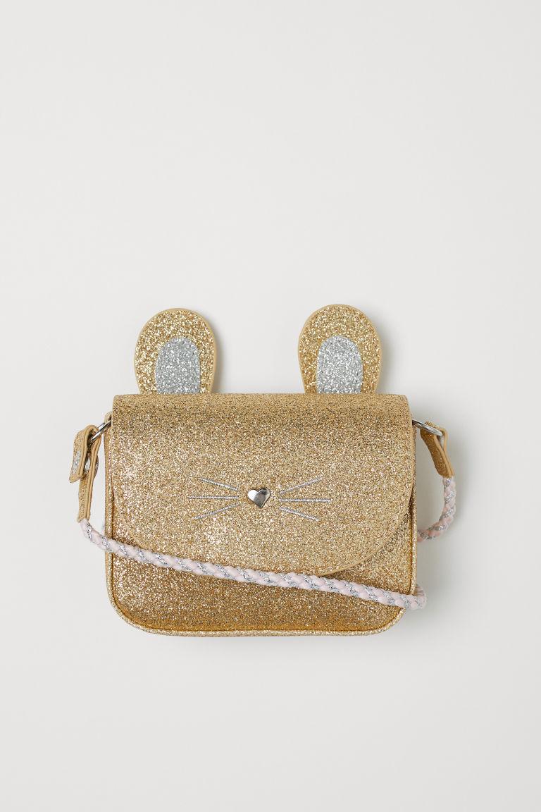 Glittery shoulder bag - Gold-coloured/Rabbit - Kids | H&M GB