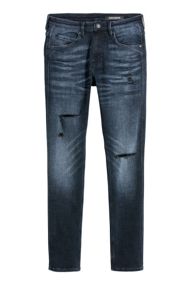 Tech Stretch Skinny Jeans - Dark blue/Trashed -  | H&M GB