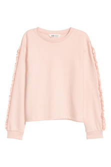 Sweatshirt with frills
