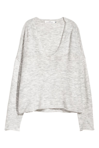 Knitted jumper - Light grey marl - Ladies | H&M