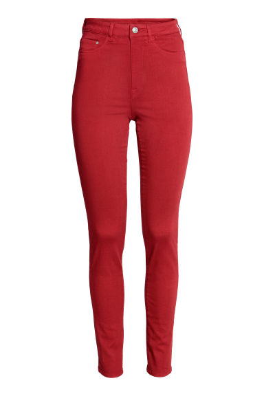 Super Skinny High Jeggings - Red -  | H&M