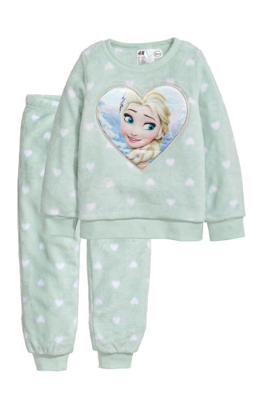 Pigiama in pile - Verde menta/Frozen -  | H&M IT