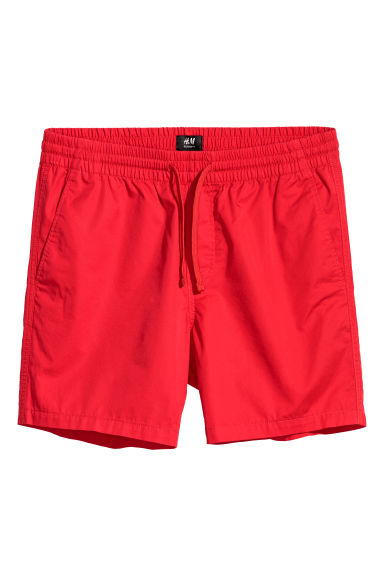 Cotton shorts Relaxed fit - Bright red - Men | H&M