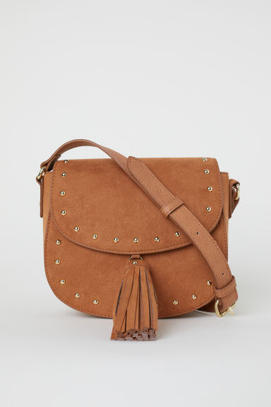 Small tasselled shoulder bag - Camel/Imitation suede - Ladies | H&M IE