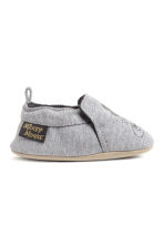 Chaussons souples - Gris chiné/Mickey - ENFANT | H&M BE 1