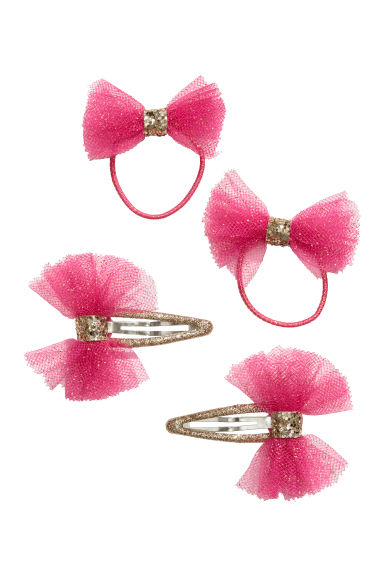 Hair elastics and clips - Pink - Kids | H&M CN 1