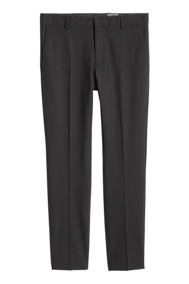 Wool suit trousers Skinny fit - Black - Men | H&M IE