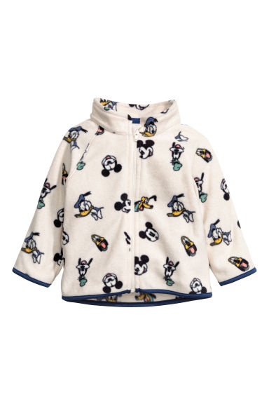 Fleece jacket - Natural white/Mickey Mouse -  | H&M CN
