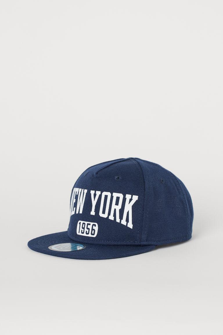 Cap with a motif - Dark blue/New York - Kids   H&M GB