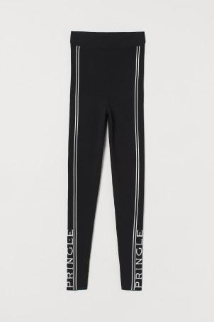 [H&M X 프링글 오브 스코틀랜드 컬렉션] 파인 니트 레깅스 - 블랙 H&M Fine-knit Leggings