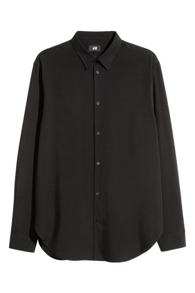 Camisa de lyocell Relaxed fit - Negro - HOMBRE | H&M ES