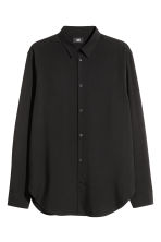 Lyocell shirt Relaxed fit - Black - Men | H&M 2