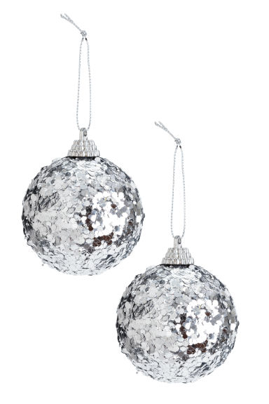 2-pack Christmas tree baubles - Silver-coloured -  | H&M CN