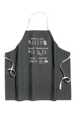 Printed apron - Anthracite grey - Home All | H&M IE 1
