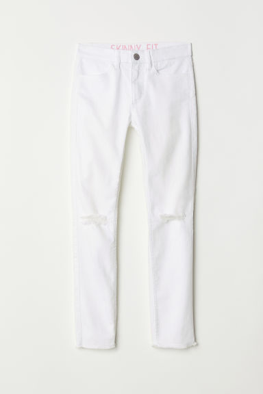 Pantalon super stretch - Blanc - ENFANT | H&M FR