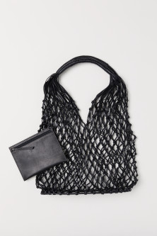 Leather Net Bag