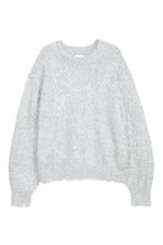 Pull - Gris clair/scintillant - FEMME | H&M BE 2