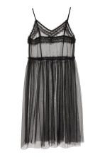 Transparent mesh dress - Black - Ladies | H&M 2