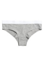3-pack cotton-blend briefs - Black marl - Ladies | H&M CN 3