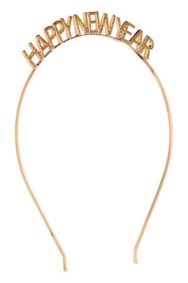 Metal Alice band - Gold -  | H&M
